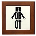 Typographic Robot Framed Tile