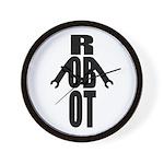 Typographic Robot Wall Clock