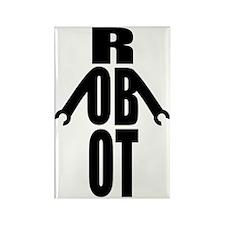 Typographic Robot Rectangle Magnet