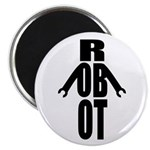 Typographic Robot Magnet