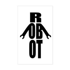 Typographic Robot Decal