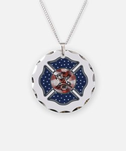 Firefighter USA Necklace