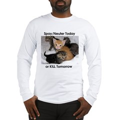 Spay your cat Long Sleeve T-Shirt