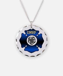 Fire Chief Gold Maltese Cross Necklace