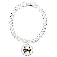 It Is What It Is Black a Bracelet