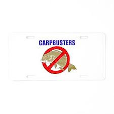 Funny Carp Aluminum License Plate