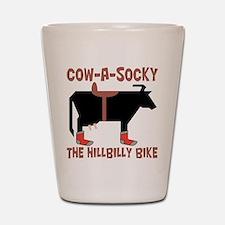 Cow A Socky Hillbilly Bike Shot Glass