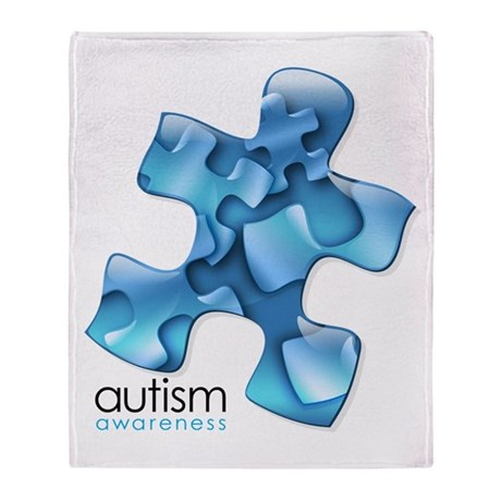 PuzzlesPuzzle (Blue) Throw Blanket