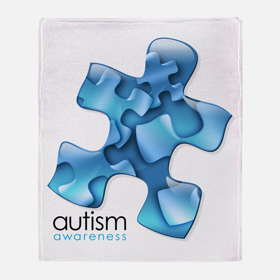 PuzzlesPuzzle (Blue) Throw Blanket