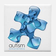 PuzzlesPuzzle (Blue) Tile Coaster