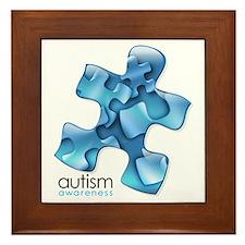 PuzzlesPuzzle (Blue) Framed Tile