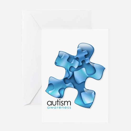 PuzzlesPuzzle (Blue) Greeting Card