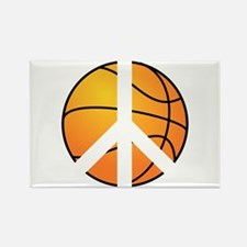 Peace Basketball Rectangle Magnet