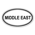 Middle East Euro Oval Sticker
