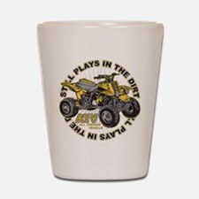 Plays in the Dirt ATV Shot Glass