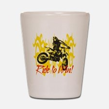 Ride to Win Motocross Shot Glass