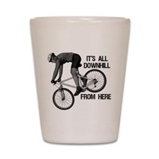 Downhill Mountain Biker Shot Glass
