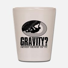 Gravity? Rock Climber Shot Glass