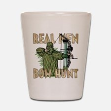 Real Men Bow Hunt Shot Glass