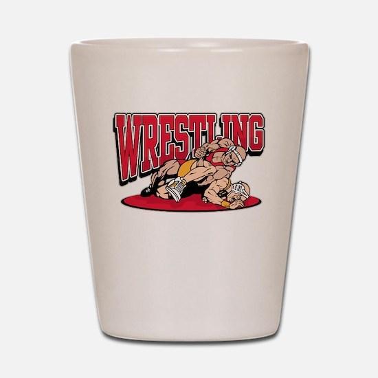 Wrestling Takedown Shot Glass