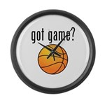 got game? Large Wall Clock