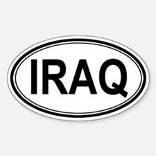 Iraq Euro Oval Decal