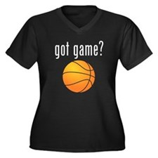 got game? (white) Women's Plus Size V-Neck Dark T-