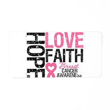Breast Cancer Faith Aluminum License Plate