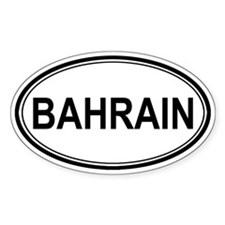 Bahrain Euro Oval Decal
