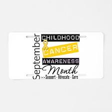 September Childhood Cancer Mo Aluminum License Pla