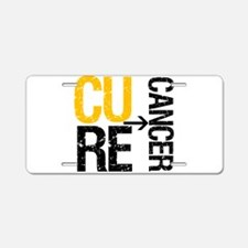 Cure Cancer (Childhood) Aluminum License Plate