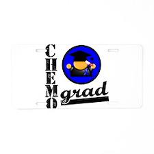 Chemo Grad Colon Cancer Aluminum License Plate