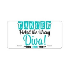 Cancer Wrong Diva Aluminum License Plate