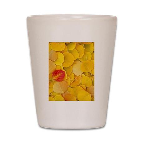 Aspen Leaves Shot Glass