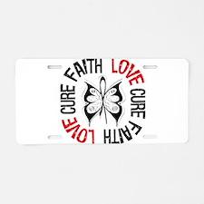 Lung Cancer Faith Aluminum License Plate