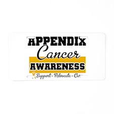 Appendix Cancer Aluminum License Plate