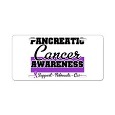 Pancreatic Cancer Aluminum License Plate