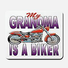 GRANDMA IS A BIKER Mousepad