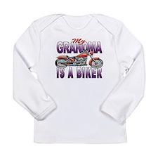 GRANDMA IS A BIKER Long Sleeve Infant T-Shirt