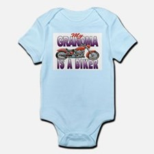 GRANDMA IS A BIKER Infant Bodysuit