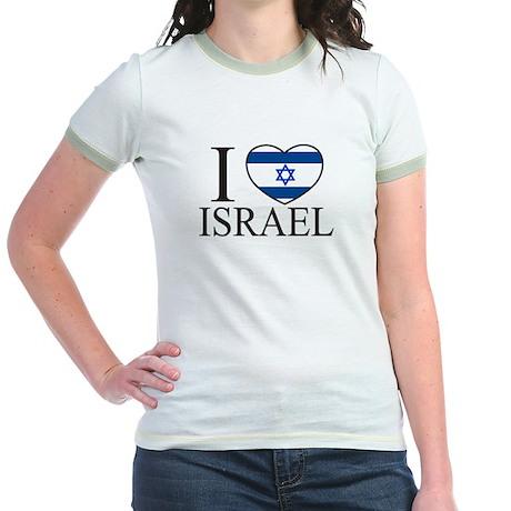 I Love Israel Jr. Ringer T-Shirt