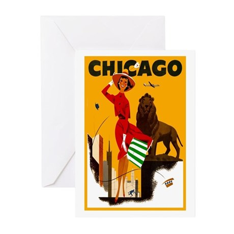 Vintage Chicago Travel Greeting Cards (Pk of 10)