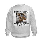 Dog-Gone Foxy Kids Sweatshirt