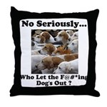 Dog-Gone Foxy Throw Pillow