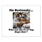 Dog-Gone Foxy Small Poster