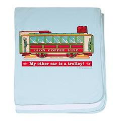 Trolley Car baby blanket