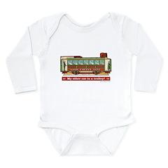 Trolley Car Long Sleeve Infant Bodysuit