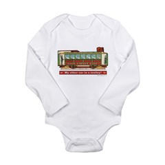 Trolley Car Long Sleeve Infant Bodysuit