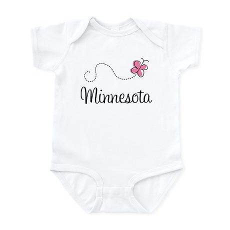 Minnesota Pink Butterfly Infant Bodysuit