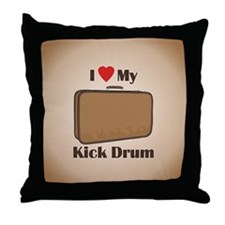 Suitcase Drum Love Throw Pillow